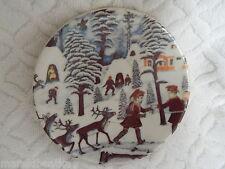 VTG ARABIA FINLAND  1981 CHRISTMAS SMALL  DECORATIVE PLATE # 10