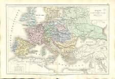 Guerre EMPIRE Révolution française French Revolutionary War MAP CARTE ATLAS 1870