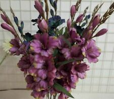 7 Heads Cheap Artificial Gladiolus Flower Silk Orchid Plant Autumn Sword Orchid