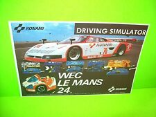 Konami WEC Le Mans 24 Original NOS 1986 Video Arcade Game Flyer European Rare