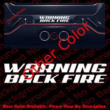 Warning Back Fire Vinyl Die Cut Decal Danger Racing Car Exhaust Sticker Fy058