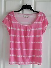 Jones New York Pink Tye Die Mesh Style Blouse Top  LARGE