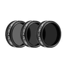 Neewer 3pcs Pro Lens Filter Kit ND4/PL ND8/PL ND16/PL for DJI Mavic Air Drone