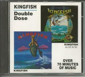 """KINGFISH - Double Dose - """"Same"""" & """"Alive in`85"""" Two in One CD 1988 Relix/USA"""