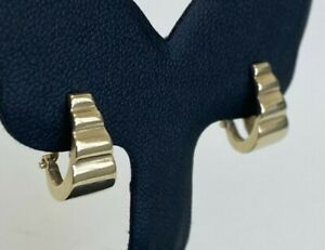 9CT solid gold clip on earrings / non Pierced /  3.02g