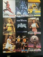 1995 Fleer Ultra Mighty Morphin Power Rangers Promo Card uncut Sheet mint