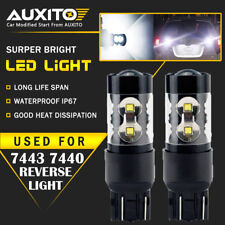 2X Back Up Reverse Lights 50W 7443 7440 T20 LED 6000K Super White Bulb 2400LM EA