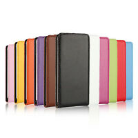 Genuine Leather Magnetic Flip Case Cover For Sony Xperia Z5 Compact