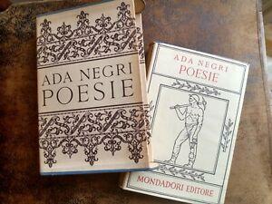 Ada Negri - Poesie (letteratura italiana, Mondadori Editore)