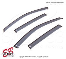 For Jeep Compass 2011-2017 Tape On Ash Grey JDM Window Visors Deflector 4pcs