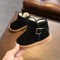 Infant Baby Girl Winproof Winter Snow Boot Cotton Soft Sole Toddler Kids Shoes