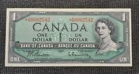 1954 Canada $1.00 Replacement BC-37bA-i Beattie Rasminsky AM 0002542 UNC