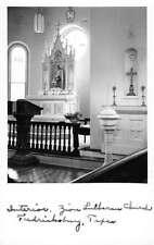 Fredericksburg Texas Zion Church Interior Real Photo Antique Postcard K81596