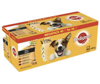 Pedigree Vital Protection-Wet Dog Food Pouches in Gravy,Mix of Flavours,40x