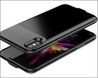 COQUE CHARGEUR EXTERNE pour IPHONE X charge ultra rapide NOIR