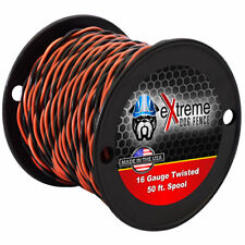 16 Gauge Twisted Wire Electric Dog Fence Wire - 50'-100'-150' (Choose Length)