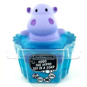 Hugo the Hippo Toy in Soap Vegan Friendly Handmade Stocking Filler Sweet Floral