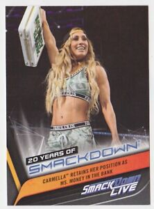 2019 Topps WWE Smackdown 20 Years of Smackdown! #sd-40 Carmella