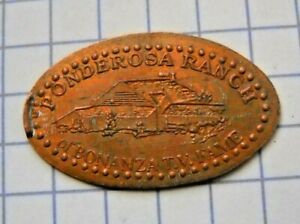 Ponderosa Ranch elongated penny Nevada USA cent Bonanza TV Fame souvenir coin