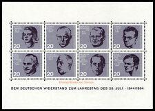 EBS Germany 1964 Attempt on Hitler Miniature Sheet Michel Block 3 MNH**
