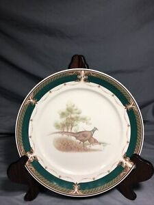 "Keltcraft By Noritake Wicklow Green 10.25"" Dinner Plate Pheasants Ireland"