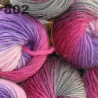 Sale 6 Skeins  x50g New Knitting Yarn Chunky  Colorful Hand Wool Wrap Scarves 02