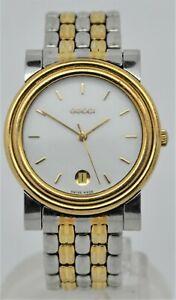 Gucci ref:4300m stainless steel & gold plate gents quartz dress watch
