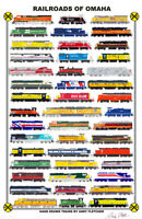 "Railroads of Omaha 11""x17"" Poster Andy Fletcher signed"