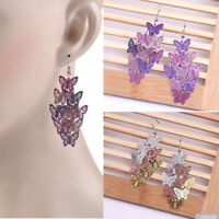 Charm Ear Hook Party Jewelry Women Butterfly Dangle Chandelier Drop Earrings Set