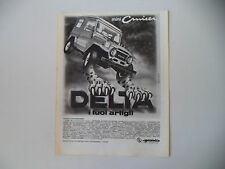 advertising Pubblicità 1981 DELTA MINICRUISER MINI CRUISER