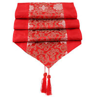 Floral Table Runner Tablecloth Cover Christmas Wedding Party Dining Decor Shan