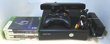 XBox 360 Slim - 4GB - Black Console Kinect Bundle 1 Controller & 5 Games