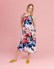 Joules Rosaprint Printed Sleeveless Dress 6 in Navy Whitstable Floral Size 6