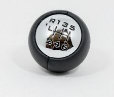 Peugeot Gear Shift Knob Black Real Leather 6 Speed For Peugeot 307 308 407 3008