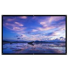 100'' Portable Foldable Projector Screen HD Home Wall Theater Outdoor 3D Movies