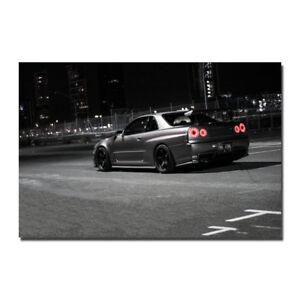 Nissan GT-R Supercar GTR Sports Car Art Silk Wall Poster 13x20 24x36 inch J872