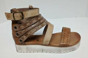 Bed Stu Artemia Gladiator Sandals, Brown Leather, Women's 9 M