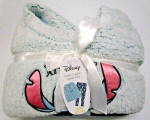 Women's Large Disney Lilo & Stitch 2 Piece Pajamas Super Soft Fleece L NEW