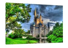 Disney Castle 30x20 Inch Canvas - VERY rare Disney Framed Picture Canvas Print