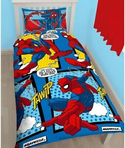 Spiderman Reversible Single Duvet Cover with Pillow Case