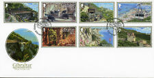 Gibraltar 2017 FDC Upper Rock Nature Reserve 7v Cover Tourism Caves Stamps