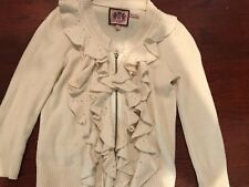Juicy Couture Soft Cashmere Cardigan Sweater Size P