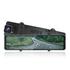 "12"" Touch HD 1080P Car DVR Dash Cam Front and Rear Mirror Camera Video Recorder"