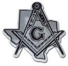 Texas Mason - Masonic Chrome Auto Emblem