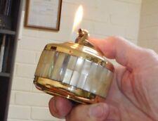 Ibelo Mother of Pearl Gilt Lighter - Vintage, Restored - Made in West Germany