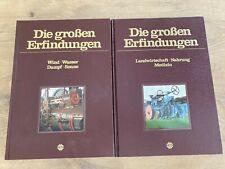 2 x Buch Die großen Erfindungen Sigloch Edition Wind, Wasser .. Landwirtschaft
