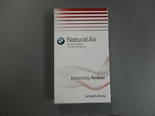 Original BMW Innenraumduft Natural Air Nachfüllset Balancing Amber 3 Sticks