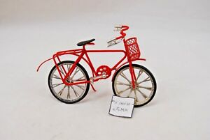 Bicycle - Bike - Red -   Metal 1/12 Scale  G8141 - Dollhouse Miniature