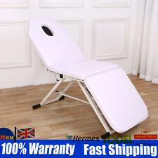 Portable White 3 Fold Beauty Folding Massage Table Massage Therapy Beauty Bed UK
