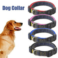 Nylon Adjustable Small Dog Collar Pet Cat Puppy Blue Black Pink Red 4 Size